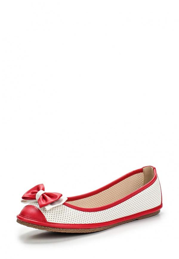 Балетки Wilmar 51-SE-01 R белые, красные
