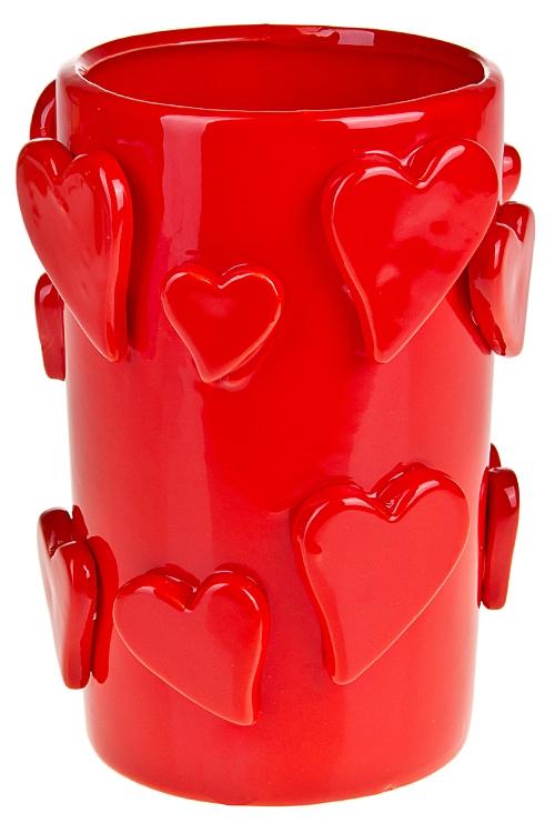"""Вазы для цветов Красный куб Ваза для цветов """"Объемные сердца"""""""