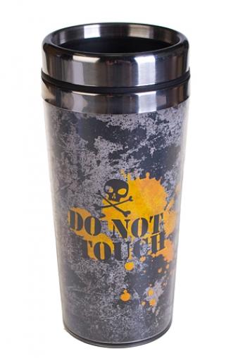 """Термокружки и стаканы для чая/кофе Красный куб Термокружка с крышкой """"Не трогать!"""""""