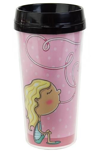 """Термокружки и стаканы для чая/кофе Красный куб Термокружка с крышкой """"Коктейль"""""""