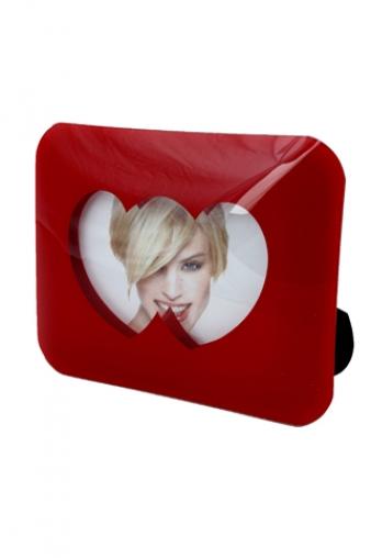 """Свадебные фоторамки Красный куб Рамка для фото """"Влюбленные сердца"""""""
