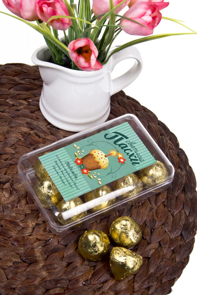 """Оригинальные и Необычные подарки Красный куб Коробка шоколадных конфет """"На Пасху"""""""