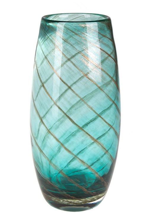 """Стеклянные вазы и кашпо Красный куб Ваза для цветов """"Голубая лагуна"""""""