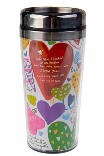 """Термокружки и стаканы для чая/кофе Красный куб Термокружка с крышкой """"Любовь - это"""""""