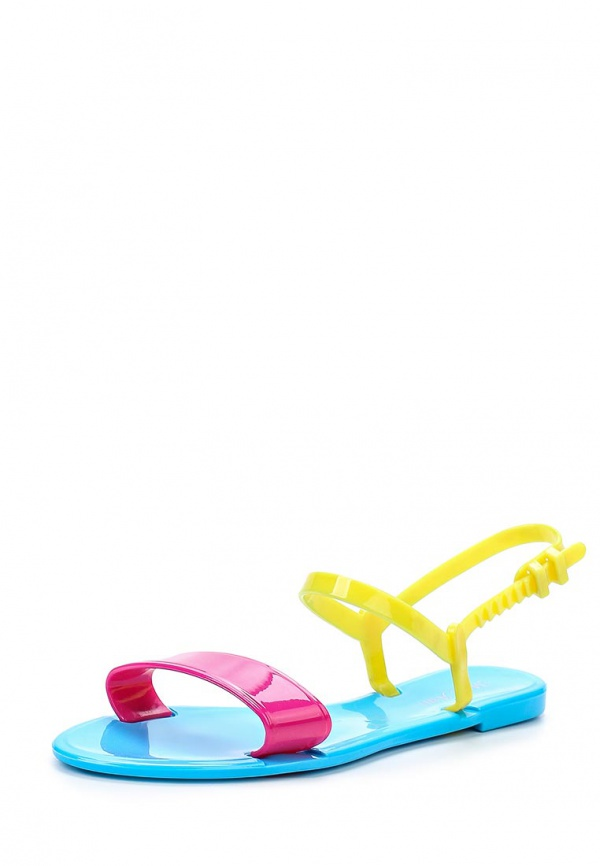 Сандалии Mon Ami S-5110 голубые, жёлтые, фуксия