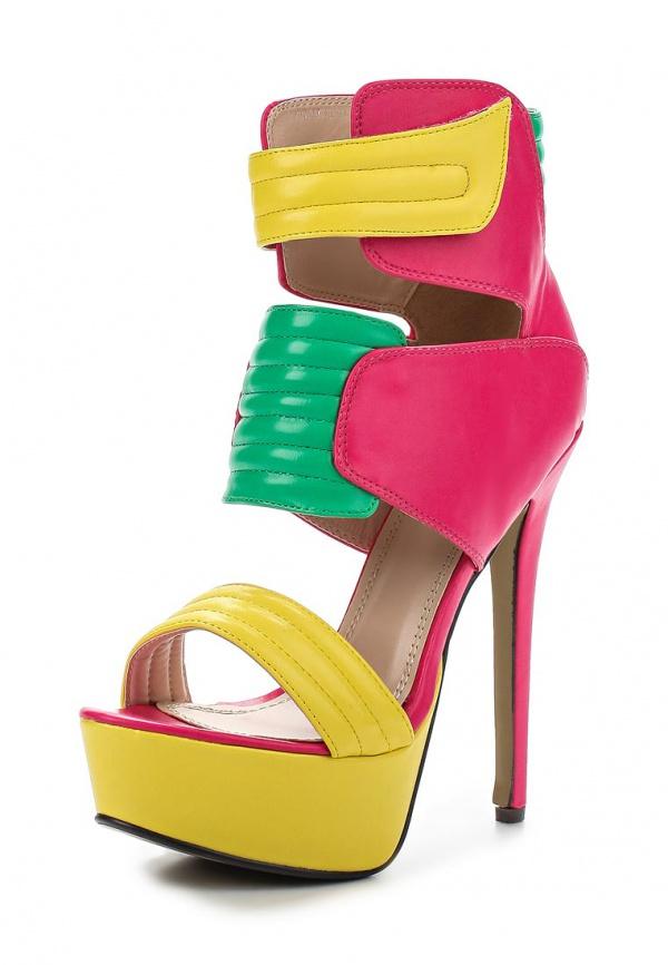 Ботильоны на каблуке Sergio Todzi RMD1227 жёлтые, зеленые, розовые