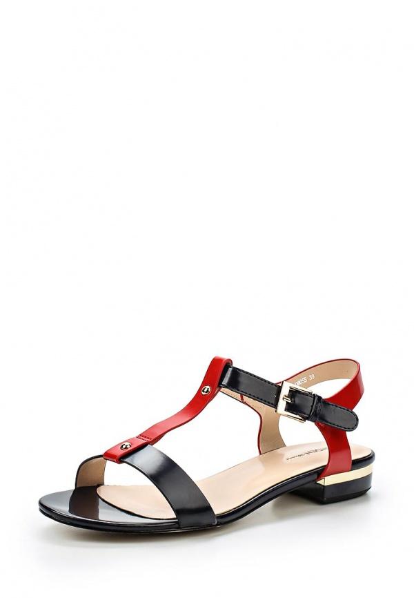 Сандалии Zenden Woman 25-25WA-080SS красные, чёрные