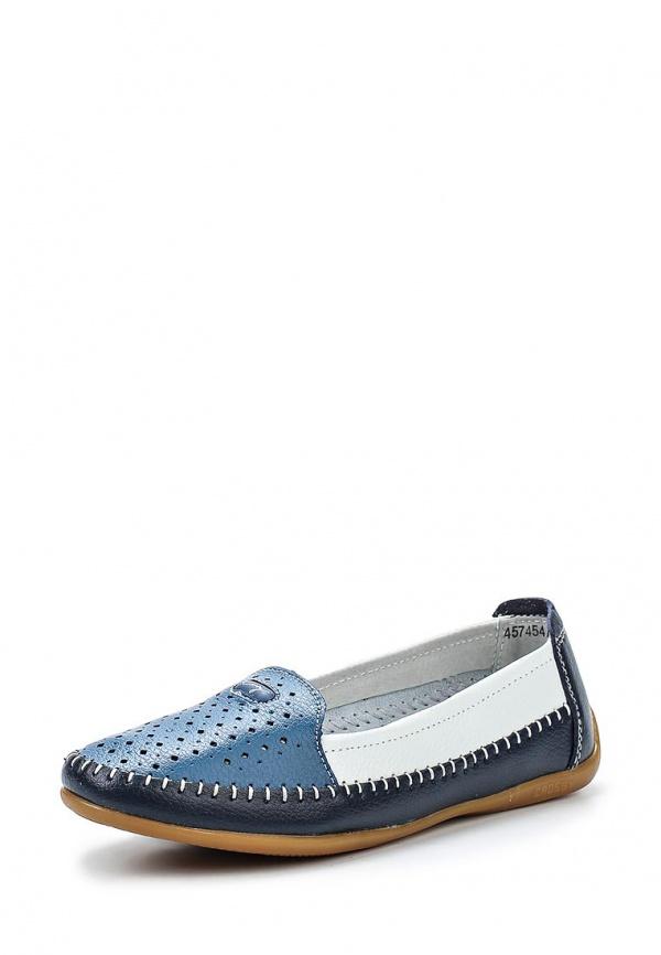 Лоферы Crosby 457454/01-01-W белые, голубые, синие