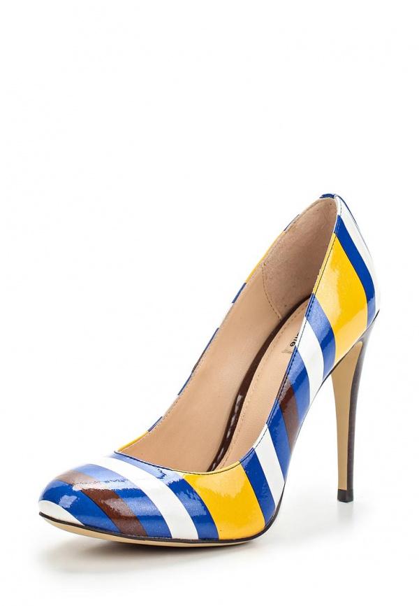 Туфли Mascotte 10-510501-0721 белые, жёлтые, коричневые, синие