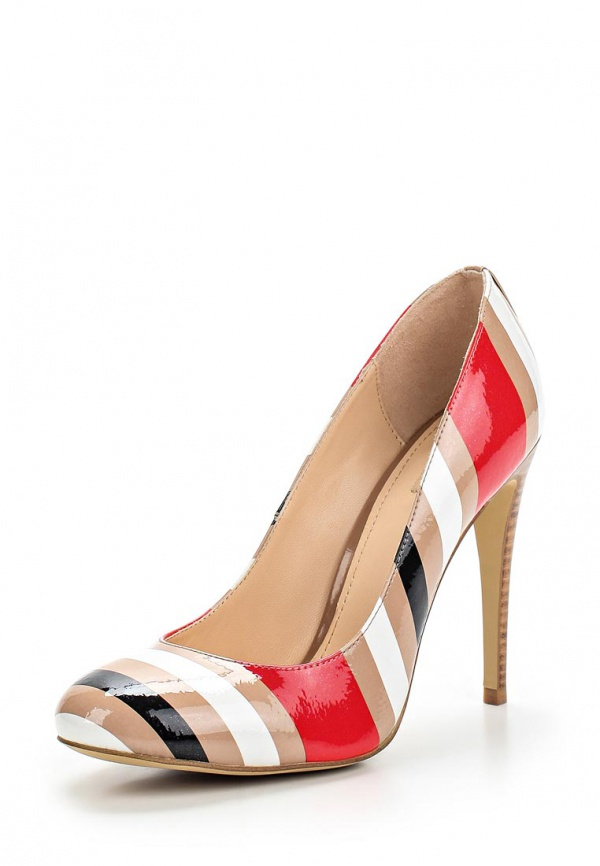 Туфли Mascotte 10-510501-0712 бежевые, белые, красные, чёрные