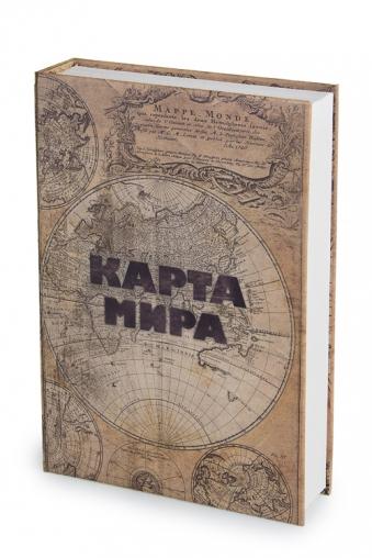 """Копилки и сейфы Красный куб Сейф """"Карта мира"""""""