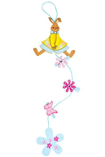"""Декоративные гирлянды и подвески Красный куб Сувенир-подвеска """"Милая зайка"""""""