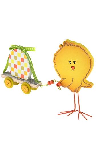 """Фигурки Красный куб Сувенир """"Цыпленок и тележка с яйцом"""""""