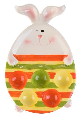 """Подставки для яиц Красный куб Блюдо для яиц """"Полосатый зайка"""""""
