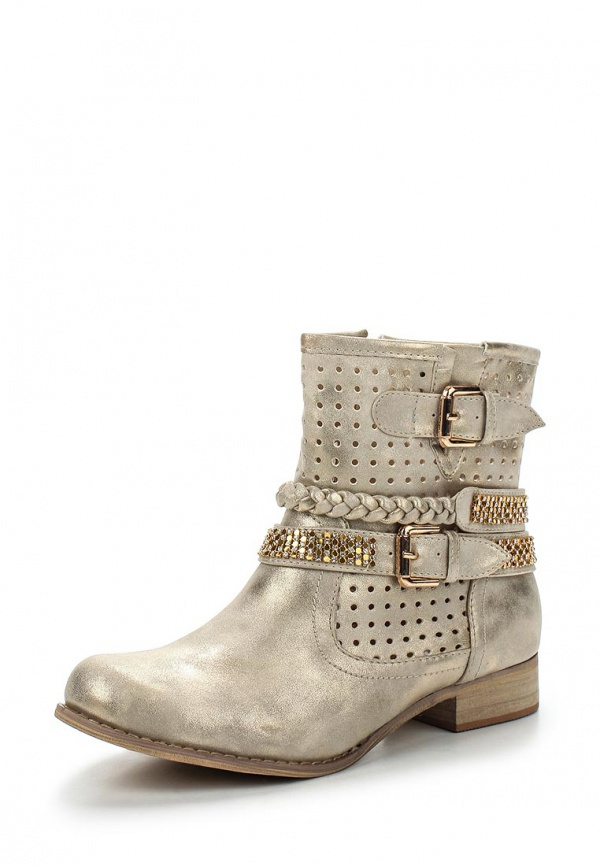Полусапоги WS Shoes LL-01 золотистые