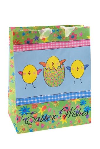 """Пакеты на любой повод Красный куб Пакет подарочный пасхальный """"Цыплята"""""""