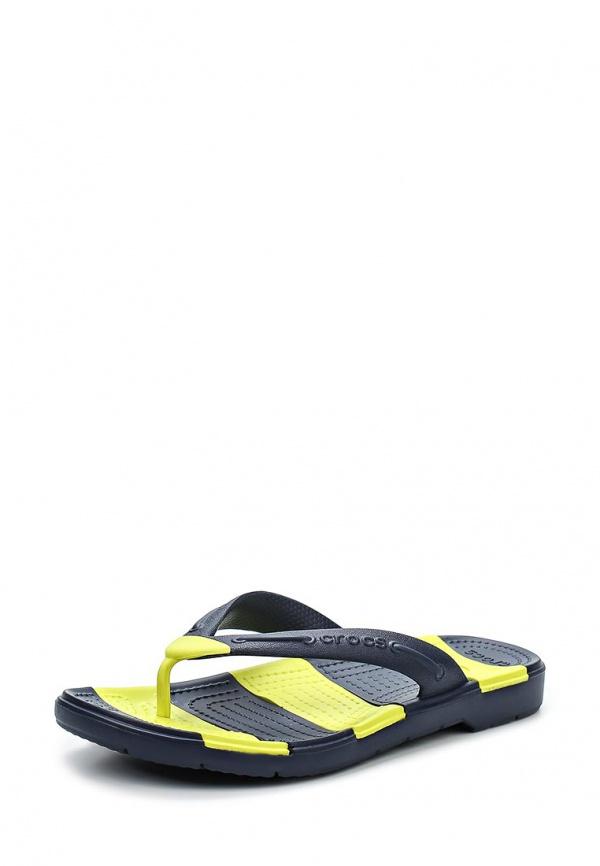 Сланцы Crocs 15335-42K жёлтые, чёрные