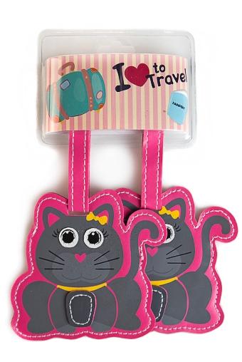 """Сувениры для мужчин Красный куб Бирка для багажа """"Кошечки"""""""