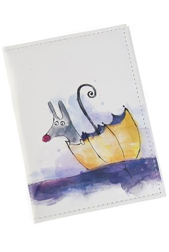 """Обложки для паспорта Красный куб Обложка для паспорта """"Зайчик в лодке"""""""