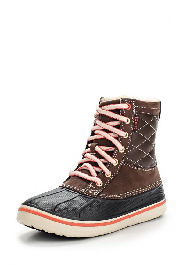 Кеды Crocs 12802-26L коричневые