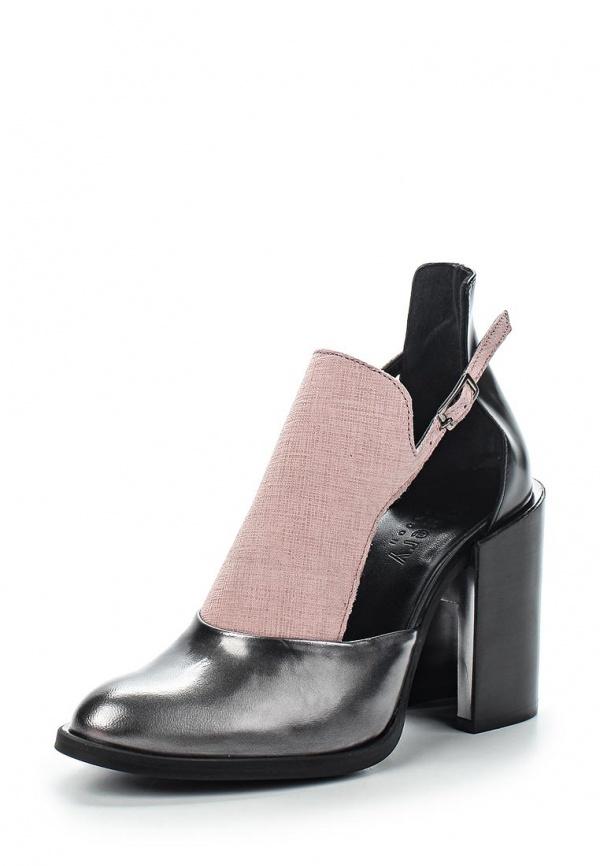 Туфли Finery London 2004SS1510 розовые, серые, чёрные