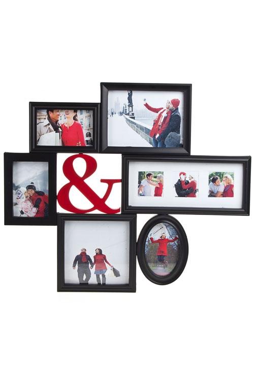 """Пластиковые фоторамки Красный куб Рамка для 8-ми фото """"Ты и я"""""""