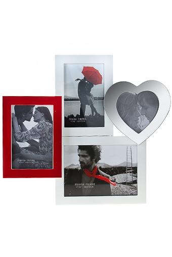 """Рамки для нескольких фото Красный куб Рамка для 4-х фото """"Мы"""""""