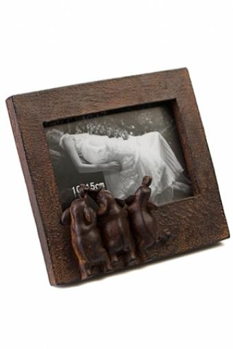 """Фоторамки для новорожденных и детские Красный куб Рамка для фото """"Любопытные слоны"""""""
