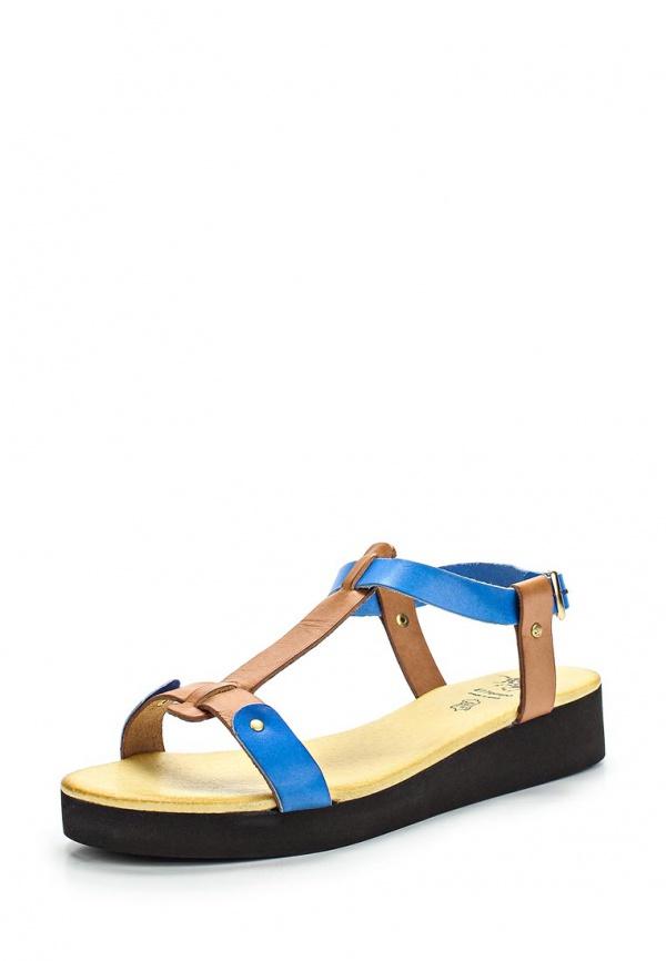 Сандалии El Tempo ETO11_17539_CAMELLO-AZUL голубые, коричневые