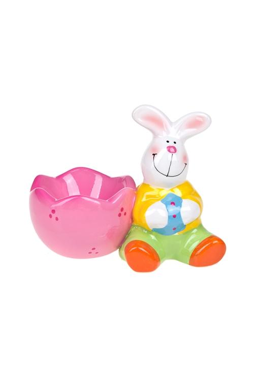 """Кухонные аксессуары Красный куб Подставка для яйца """"Веселые зайчики"""""""