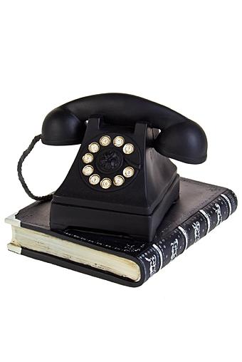 """Статуэтки Красный куб Украшение для интерьера """"Телефон на книге"""""""