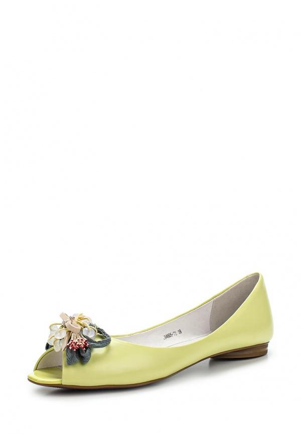 Балетки Provocante 94605-72 жёлтые, зеленые