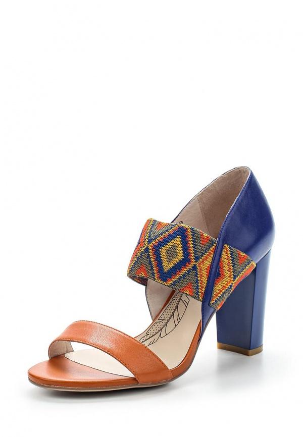 Босоножки Sinta 392-W31-2H-M оранжевые, синие