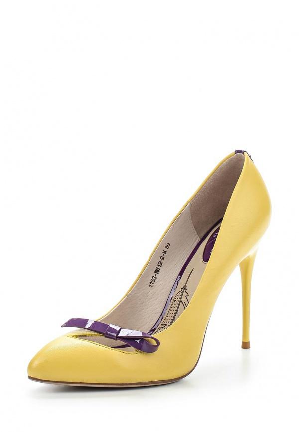 Туфли Sinta 1153-W812-2-M жёлтые