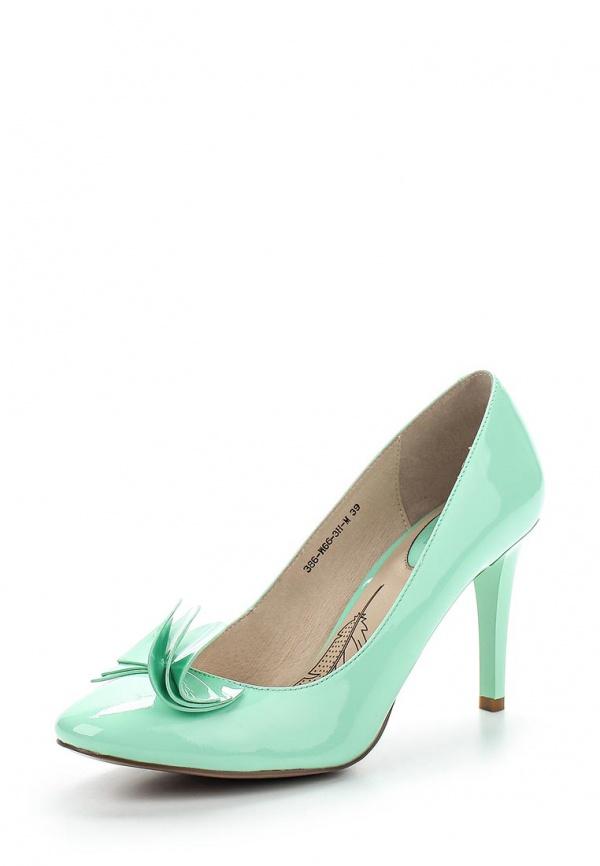 Туфли Sinta 386-W66-3H-M зеленые