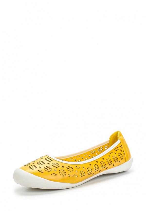 Балетки Doca 70394 жёлтые