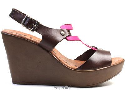 Туфли El Tempo ESA17 3285 BROWN-FUCHSIA Босоножки жен El Tempo коричневые