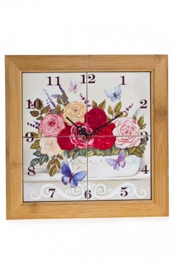 """Часы Настенные Красный куб Часы настенные """"Прованские цветы"""""""