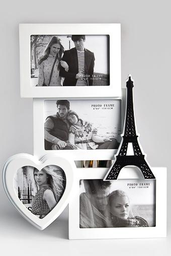 """Рамки для нескольких фото Красный куб Рамка для 4-х фото """"Любимый Париж"""""""