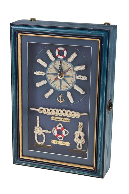 """Украшения на стену Красный куб Ящик для ключей """"Путеводный компас"""""""