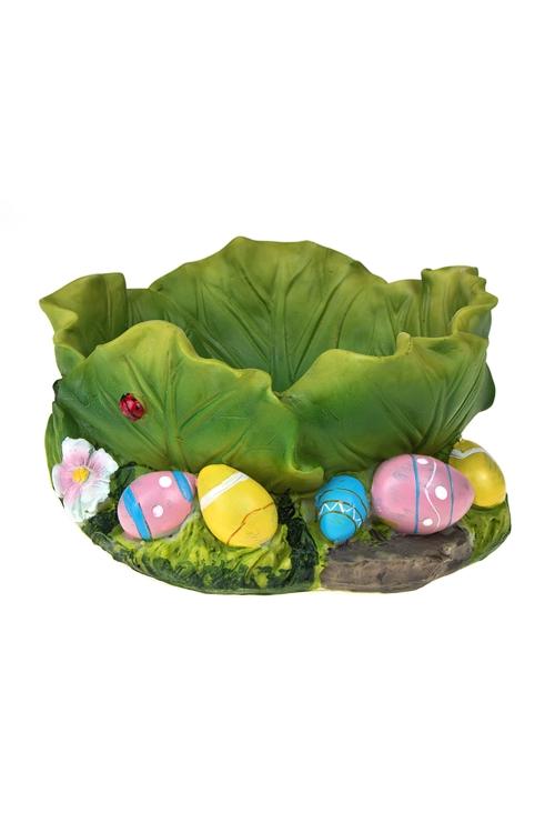 """Кухонные аксессуары Красный куб Корзинка для яиц декор. """"Пасхальная грядка"""""""