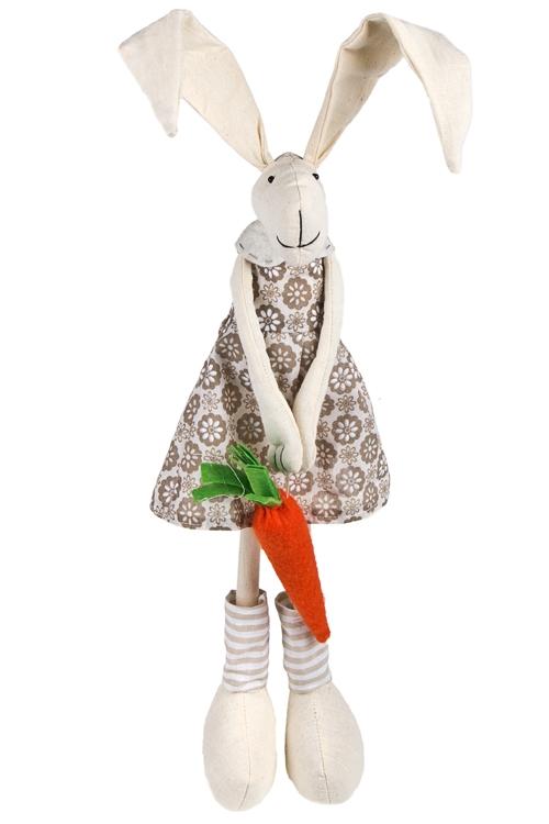 """Текстильные игрушки Красный куб Игрушка мягкая """"Зайчик с морковкой"""""""