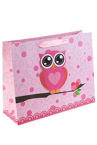 """Пакеты на любой повод Красный куб Пакет подарочный """"Сова"""""""