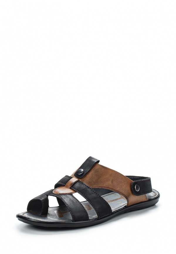 Сандалии Stesso 604-009A9-3A коричневые, чёрные