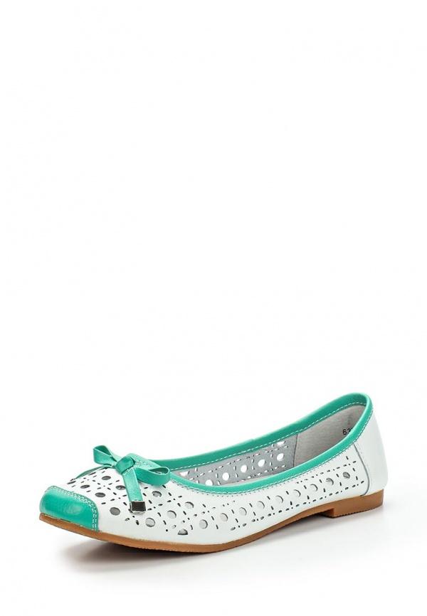 Туфли Dodgio 63V-0095A-1C белые, бирюзовые