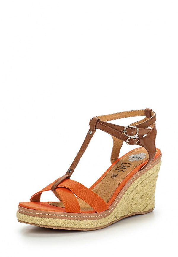 Босоножки Doca 71854 коричневые, оранжевые