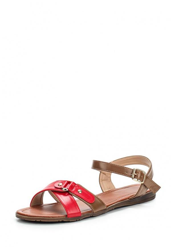 Сандалии Sinta 602-2-4-M коричневые, красные