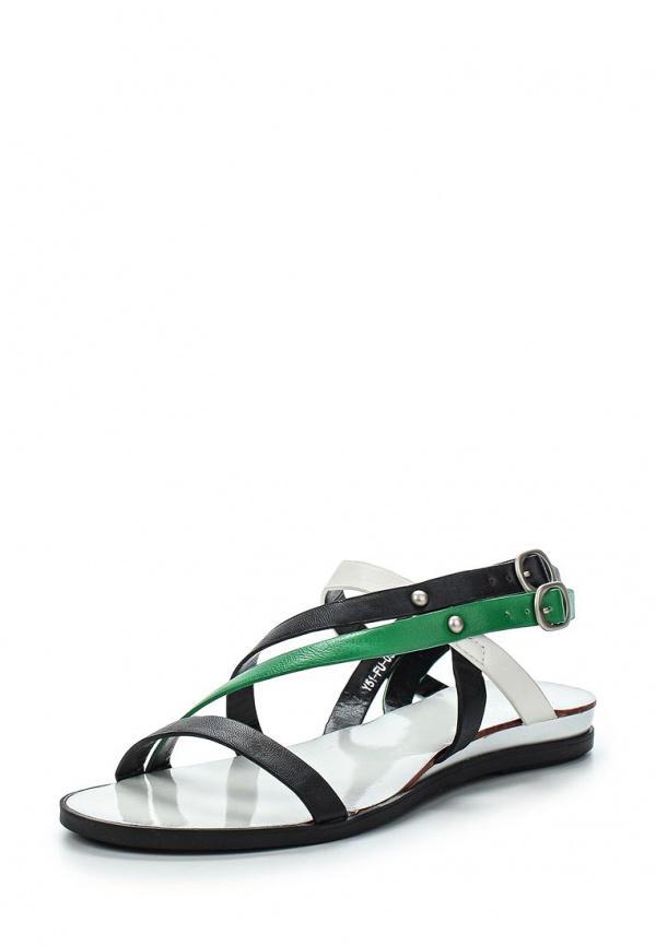 Сандалии Yaro Y51-FU-05 A зеленые, чёрные