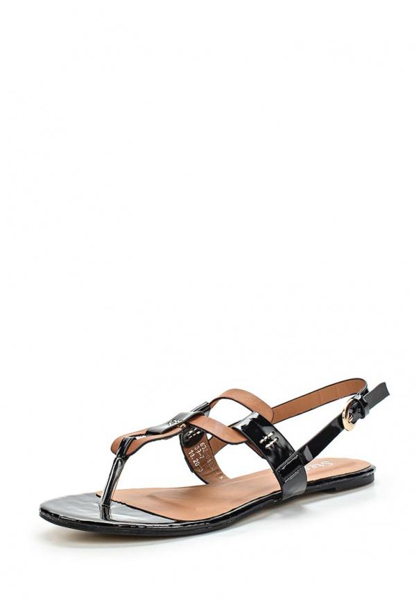 Сандалии Stesso 60Z-008B3-1A коричневые, чёрные