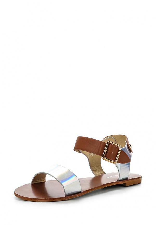 Сандалии Ideal BL-6210 коричневые, серебристые